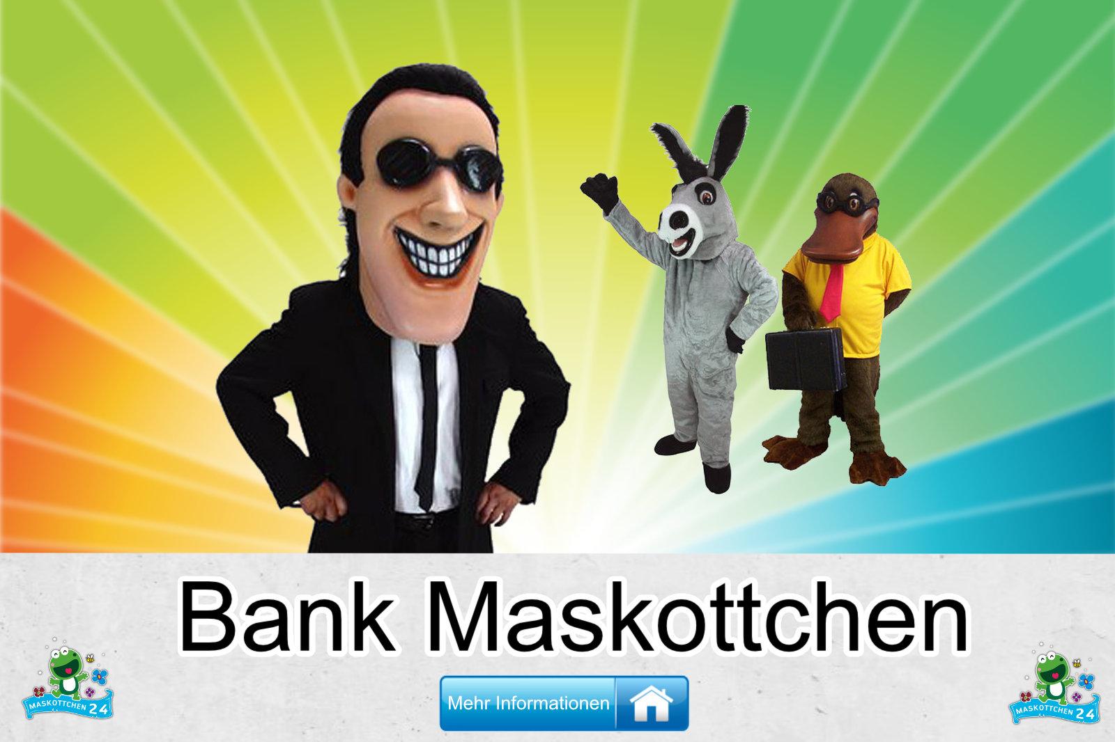 Bank Maskottchen Verein Karneval Produktion günstig kaufen