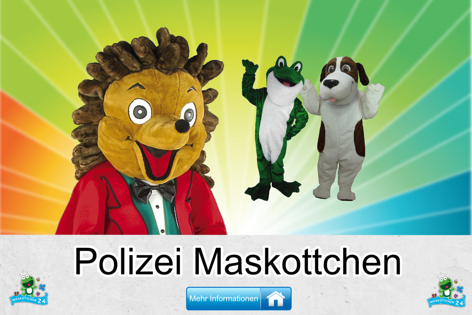 Polizei Kostüme Maskottchen Herstellung Firma günstig kaufen