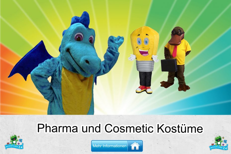 Pharma Cosmetic Kostüme Maskottchen Karneval Produktion Firma Bau