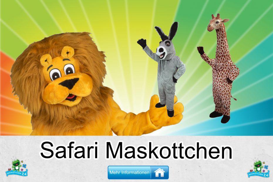 Safari-Kostueme-Maskottchen-Karneval-Produktion-Firma-Bau