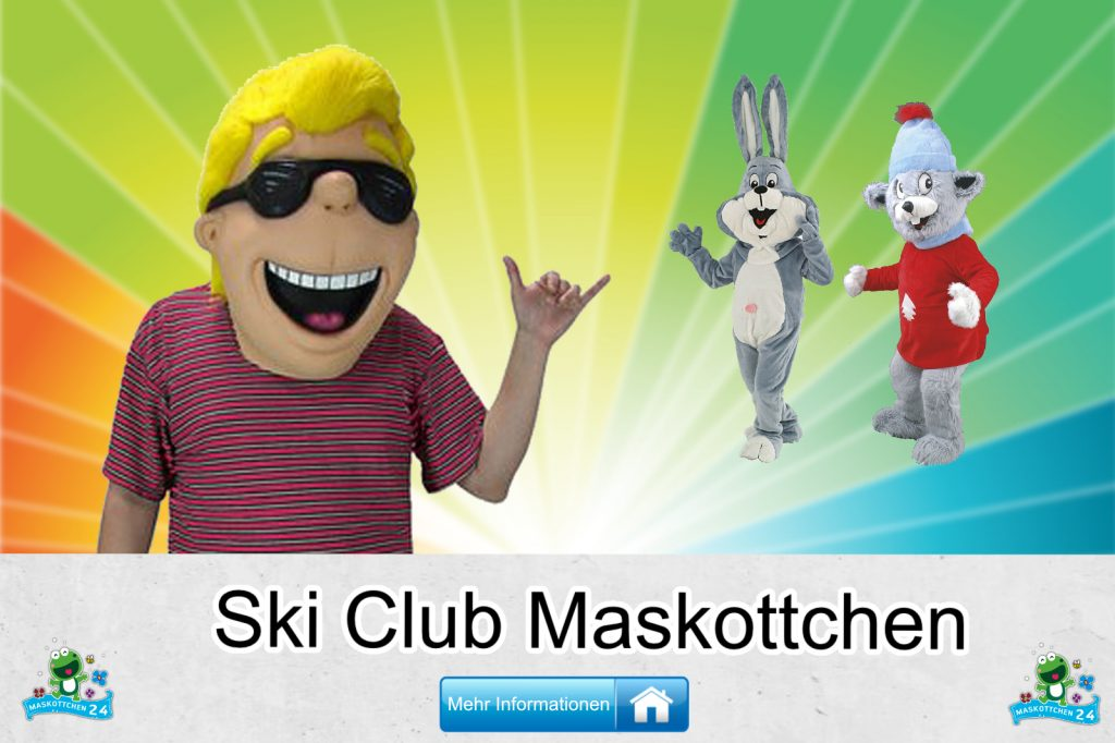 Ski-Club-Kostueme-Maskottchen-Karneval-Produktion-Firma-Bau